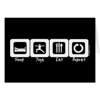 Carte Le yoga de sommeil mangent la répétition