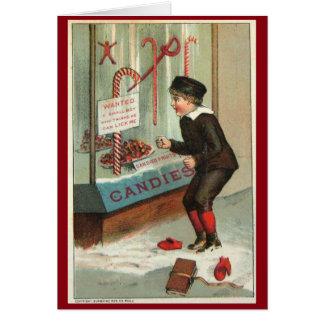 Carte Léchez-moi plaisanterie vintage de Noël d'humour