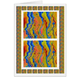 Carte L'énergie d'or ondule l'art gravé par 3D
