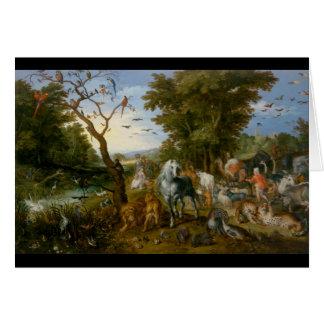 Carte L'entrée des animaux dans l'arche 1613 de Noé