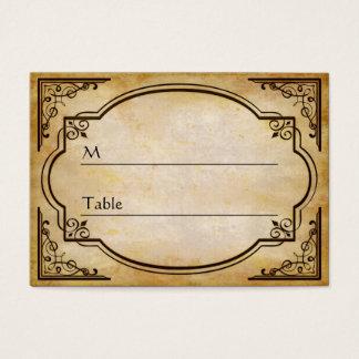 Carte l'épousant affligée rustique élégante