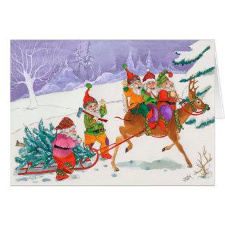 Carte Les aides de Père Noël