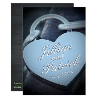 Carte Les amants argentés Padlock le mariage de maillon