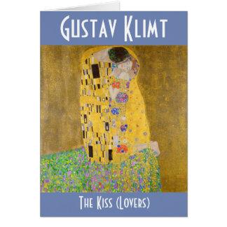 Carte Les amants de baiser aka peignant Gustav Klimt