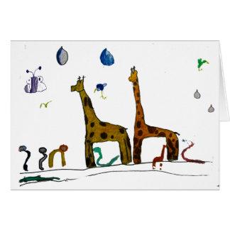 Carte Les animaux de Noé