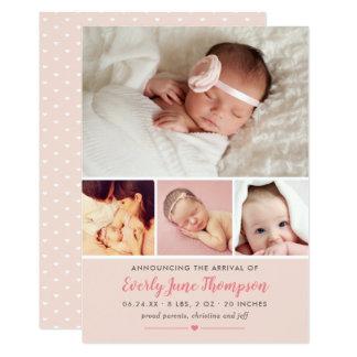 Carte Les annonces de naissance de photo de bébé |