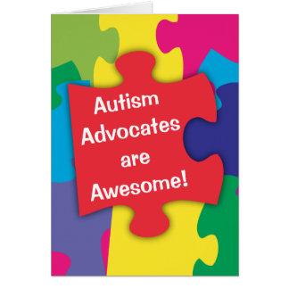 Carte Les avocats d'autisme sont impressionnants