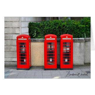 Carte Les cabines de téléphone rouges iconiques de