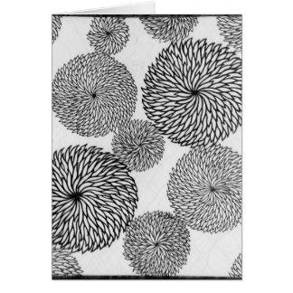 Carte Les chrysanthèmes de l'école japonaise