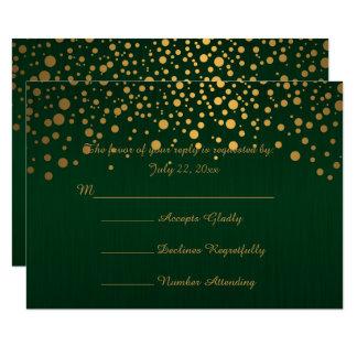 Carte Les confettis élégants d'or pointillent |
