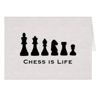 Carte Les échecs sont la vie