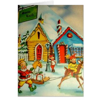 Carte Les elfes de Père Noël