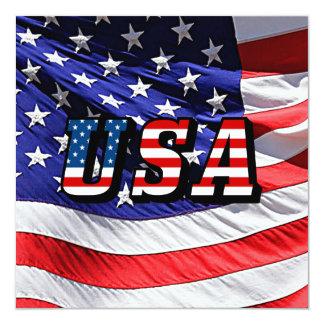 Carte Les Etats-Unis - Drapeau américain