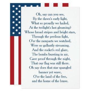 Carte Les Etats-Unis marquent le choeur d'hymne national