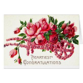 Carte Les félicitations les plus chaleureuses