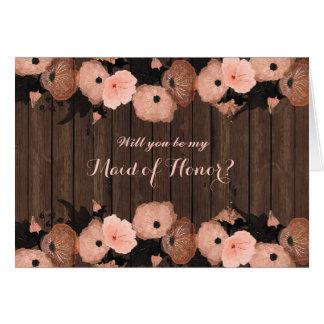 Carte Les fleurs de rose saumoné soient ma domestique de