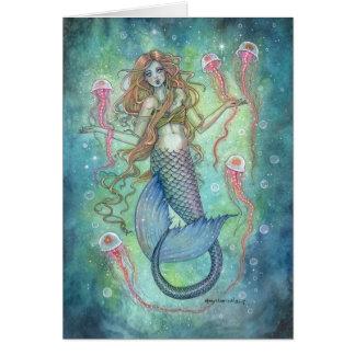 Carte Les gelées sirène et art d'imaginaire de méduses