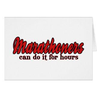 Carte Les Marathoners peuvent le faire pendant des