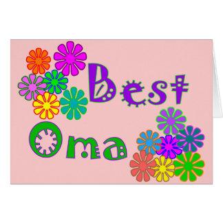Carte Les meilleurs cadeaux du jour de mère d'Oma