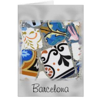Carte Les mosaïques de Barcelone Gaudi se ferment