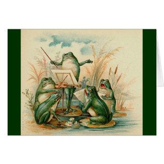Carte Les musiciens de grenouille
