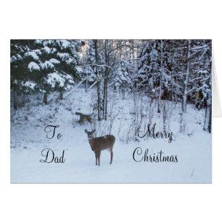 Carte Les Noël-Cerfs communs du papa