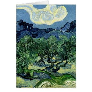 Carte Les oliviers de Vincent van Gogh (1889)