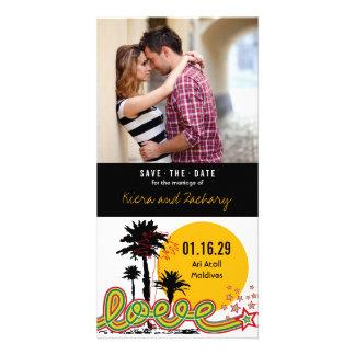 Carte Les palmiers tropicaux d'été d'amour font gagner