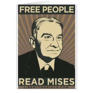 Carte Les personnes libres ont lu Mises