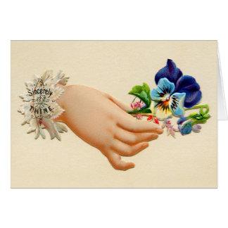 Carte Les petits bouquets victoriens ont gravé des