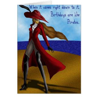 Carte Les pirates sont comme des anniversaires…