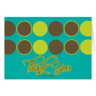 Carte les points pour vous remercient