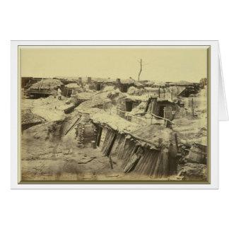 """Carte Les quarts des hommes au fort Sedgwick (""""enfer de"""