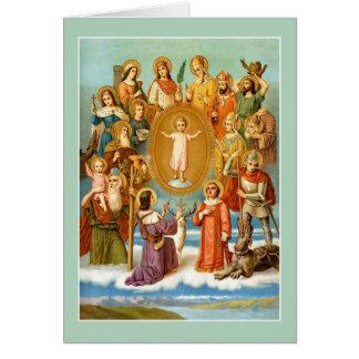 Carte Les quatorze aides saintes