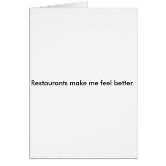 Carte Les restaurants m'incitent à me sentir mieux