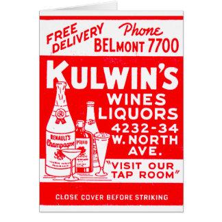 Carte Les rétros boissons alcoolisées vintages de Kulwin