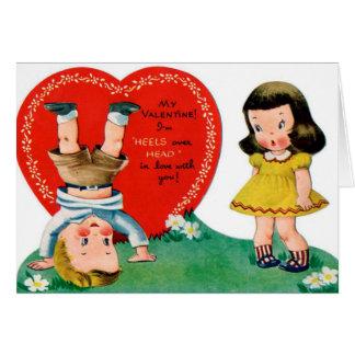 Carte Les rétros couples vintages de Valentine ajoutent
