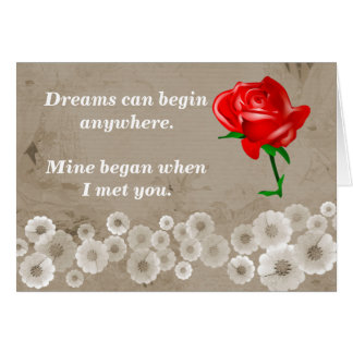Carte Les rêves commencent n'importe où