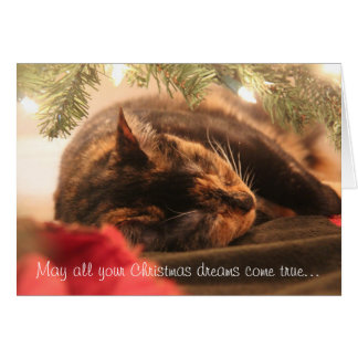 Carte Les rêves de Noël, calicot de sommeil,