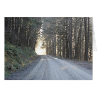 Carte Les routes de campagne, me prennent à la maison…