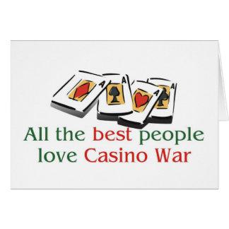 Carte Les salutations de l'amant de Casino-Guerre