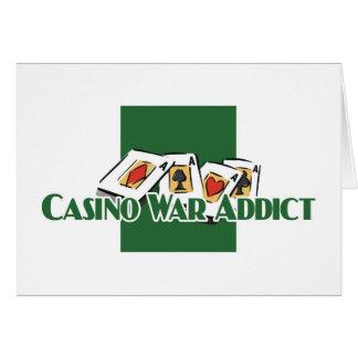 Carte Les salutations de l'intoxiqué de Casino-Guerre