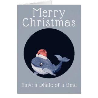 Carte Les salutations de Noël ont une baleine d'un