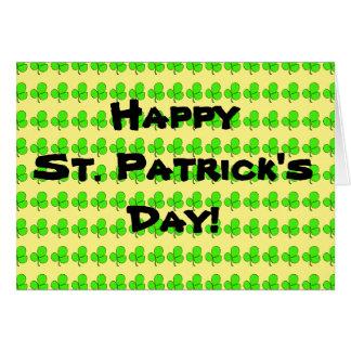 Carte Les shamrocks de St Patrick