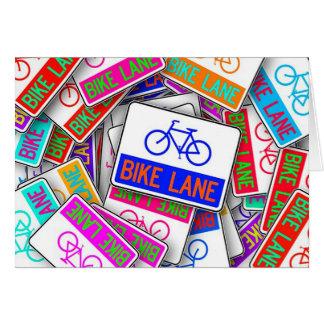 Carte Les signes colorés de ruelle de vélo ont customisé