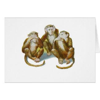 Carte Les singes comiques entendent See ne faire aucun