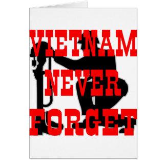 Carte Les soldats Vietnam croisé n'oublient jamais