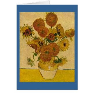 Carte Les tournesols de Vincent van Gogh, 1878