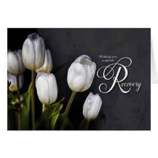 Carte Les tulipes blanches obtiennent le prompt