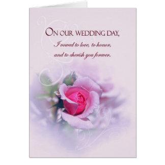 Carte Les voeux de mariage sentimentaux d'anniversaire